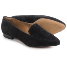 Clarks Corabeth Erin Shoes - Suede, Slip-Ons (For Women) in Black Suede - Closeouts