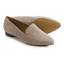 Clarks Corabeth Erin Shoes - Suede, Slip-Ons (For Women) in Light Grey Suede - Closeouts