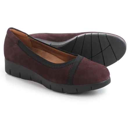 Clarks Daelyn Hill Shoes - Suede, Slip-Ons (For Women) in Aubergine Suede - Closeouts