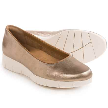 Clarks Daelyn Towne Shoes - Slip-Ons (For Women) in Gold Metallic - Closeouts