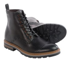 Clarks Dargo Rise Boots - Leather (For Men) in Black Leather - Closeouts