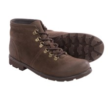 Clarks Darian Heath Boots - Leather (For Men) in Dark Brown Suede - Closeouts