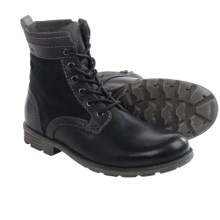Clarks Darian Hi Boots - Leather (For Men) in Black Leather - Closeouts