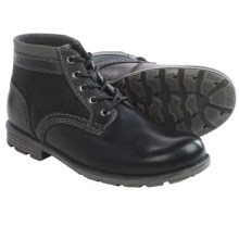 Clarks Darian Mid Boots - Leather/Suede (For Men) in Black Leather - Closeouts