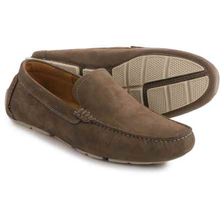 Clarks Davont Drive Shoes - Nubuck, Slip-Ons (For Men) in Olive Nubuck - Closeouts