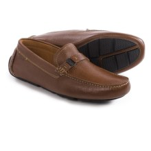 Clarks Davont Saddle Shoes - Leather, Slip-Ons (For Men) in Tan Leather - Closeouts