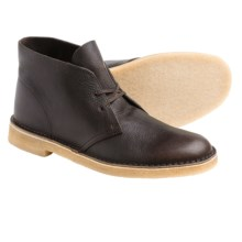 Clarks Desert Boots - Leather (For Men) in Brown Tumbled Leather - Closeouts