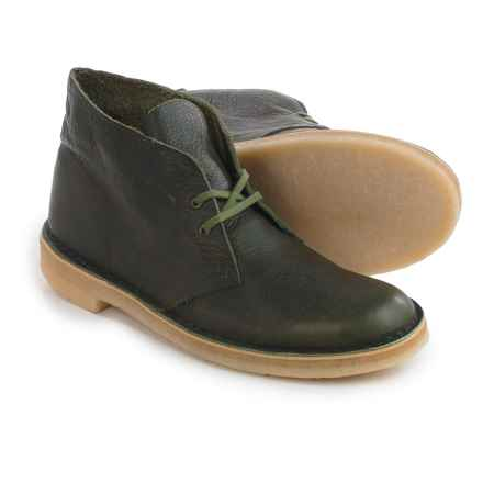 Clarks Desert Boots - Leather (For Men) in Green Leather - Closeouts