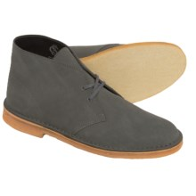Clarks Desert Boots - Leather (For Men) in Grey Suede - Closeouts