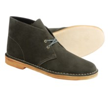 Clarks Desert Boots - Leather (For Men) in Loden Green - Closeouts