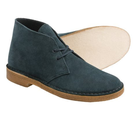 Clarks Desert Boots - Leather (For Men) in Midnight Suede