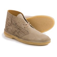 Clarks Desert Boots - Leather (For Men) in Sand Interest - Closeouts