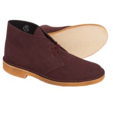 Clarks Desert Boots - Leather (For Men) in Wine Suede - Closeouts