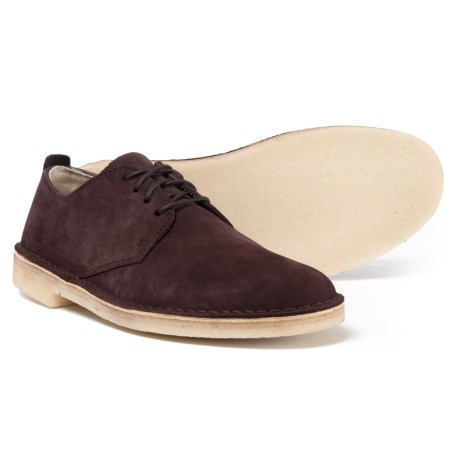 Clarks Desert London Oxford Shoes - Suede (For Men) in Burg Suede