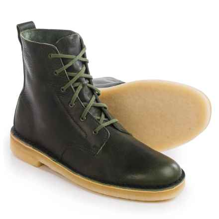 Clarks Desert Mali Leather Boots - Lace-Ups (For Men) in Leaf - Closeouts