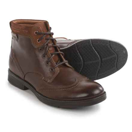 Clarks Devington Hi Boots - Leather (For Men) in Tobacco Leather - Closeouts