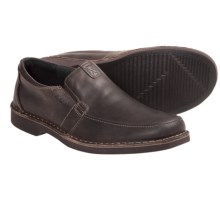 Clarks Doby Double Gore Shoes - Slip-Ons (For Men) in Dark Brown - Closeouts