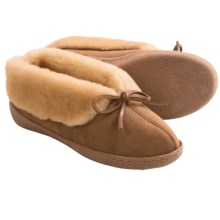 Clarks Double-Faced Shearling Bootie Slippers (For Women) in Wicker - Closeouts
