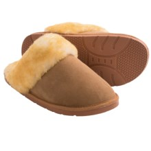 Clarks Double-Faced Shearling Slippers (For Men) in Wicker - Closeouts