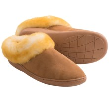 Clarks Double-Faced Shearling Slippers (For Women) in Wicker - Closeouts