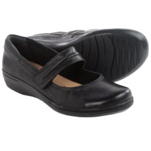 Clarks Evianna Cozy Mary Jane Shoes - Leather (For Women) in Black Leather - Closeouts