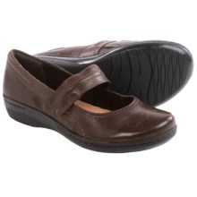 Clarks Evianna Cozy Mary Jane Shoes - Leather (For Women) in Brown Leather - Closeouts
