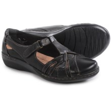 Clarks Evianna Doyle Shoes - Leather (For Women) in Black Leather - Closeouts
