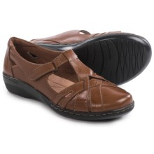 Clarks Evianna Doyle Shoes - Leather (For Women) in Tan Leather - Closeouts