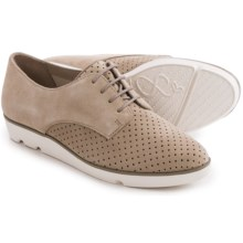 Clarks Evie Bow Suede Shoes - Lace-Ups (For Women) in Sand Suede - Closeouts