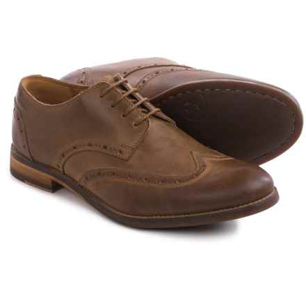 Clarks Exton Brogue Oxford Shoes -Suede, OrthoLite® (For Men) in Tobacco Leather - Closeouts