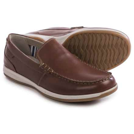 Clarks Fallston Step Shoes - Leather, Slip-Ons (For Men) in Brown Leather - Closeouts