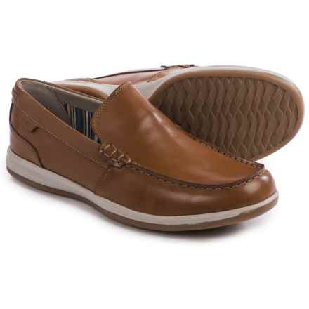 Clarks Fallston Step Shoes - Leather, Slip-Ons (For Men) in Tan Leather - Closeouts