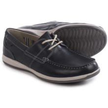 Clarks Fallston Style Boat Shoes - Leather (For Men) in Navy Leather - Closeouts