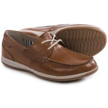 Clarks Fallston Style Boat Shoes - Leather (For Men) in Tan Leather - Closeouts