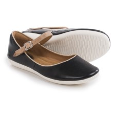 Clarks Feature Film Mary Jane Shoes - Leather (For Women) in Black Leather - Closeouts