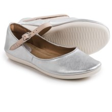 Clarks Feature Film Mary Jane Shoes - Leather (For Women) in Silver Leather - Closeouts