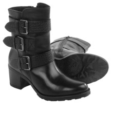Clarks Fernwood Lake Leather Boots (For Women) in Black Combo Leather - Closeouts