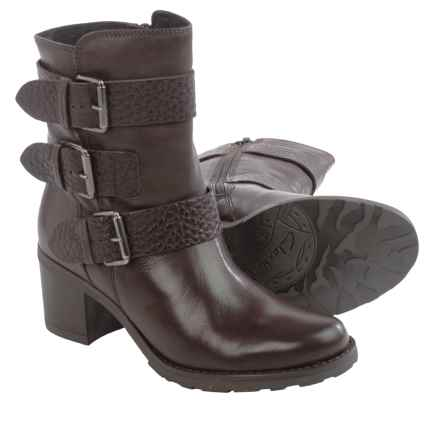Clarks Fernwood Lake Leather Boots (For Women) in Dark Brown Combo Leather - Closeouts