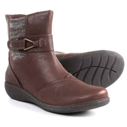 Clarks Fianna Adley Boots - Leather (For Women) in Brown Leather - Closeouts