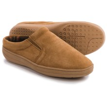 Clarks Fleece-Lined Suede Slippers (For Men) in Cinnamon Suede - Closeouts