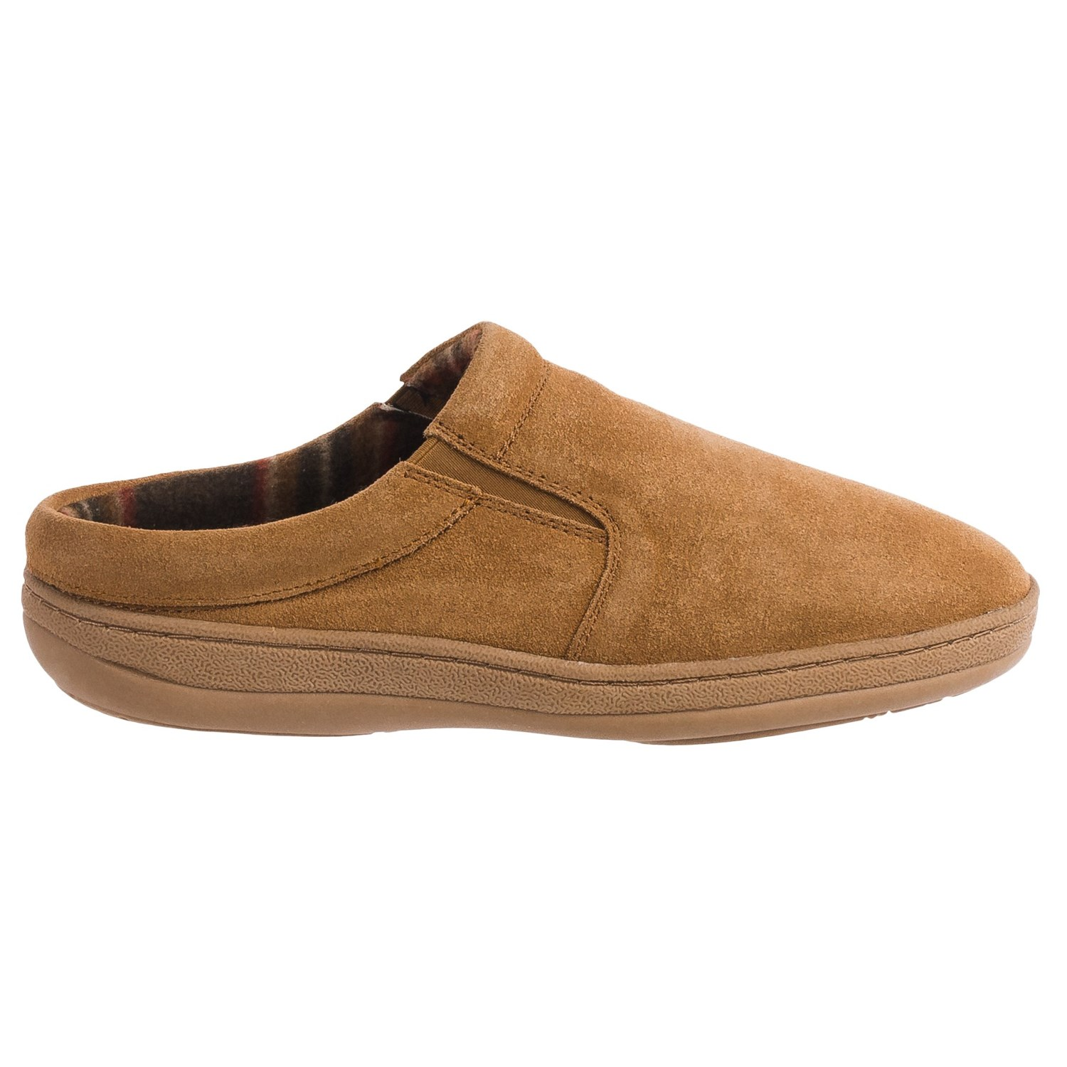 Clarks Fleece Lined Suede Slippers For Men Save 78
