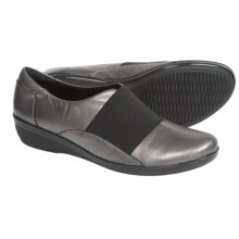 Clarks Foxvale Spell Shoes - Leather, Slip-Ons (For Women) in Pewter Metallic - Closeouts