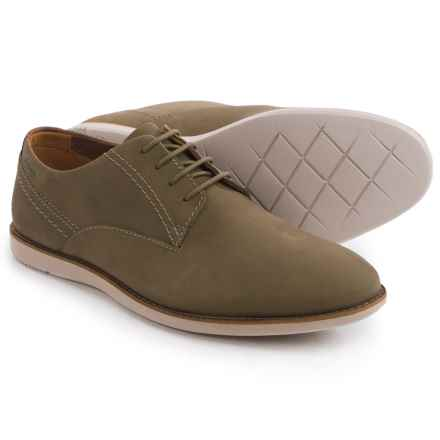 Clarks Franson Plain Toe Derby Shoes - Nubuck (For Men) in Olive Nubuck - Closeouts
