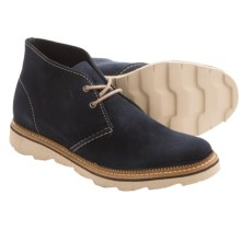 Clarks Frelan Hi Chukka Boots (For Men) in Navy Suede - Closeouts