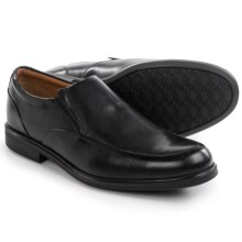 Clarks Gabson Step Shoes - Leather, Slip-Ons (For Men) in Black Leather - Closeouts