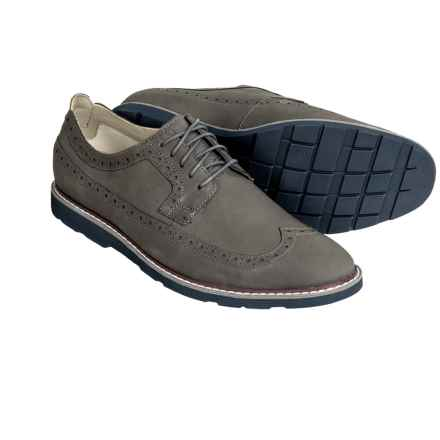 Clarks Gambeson Dress Wingtip Shoes - Nubuck (For Men) in Grey Nubuck - Closeouts