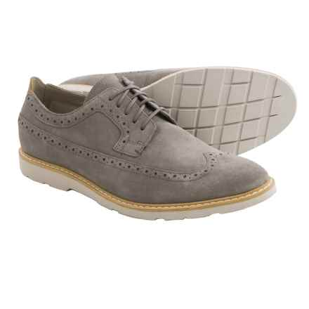 Clarks Gambeson Dress Wingtip Shoes - Nubuck (For Men) in Sage Suede - Closeouts