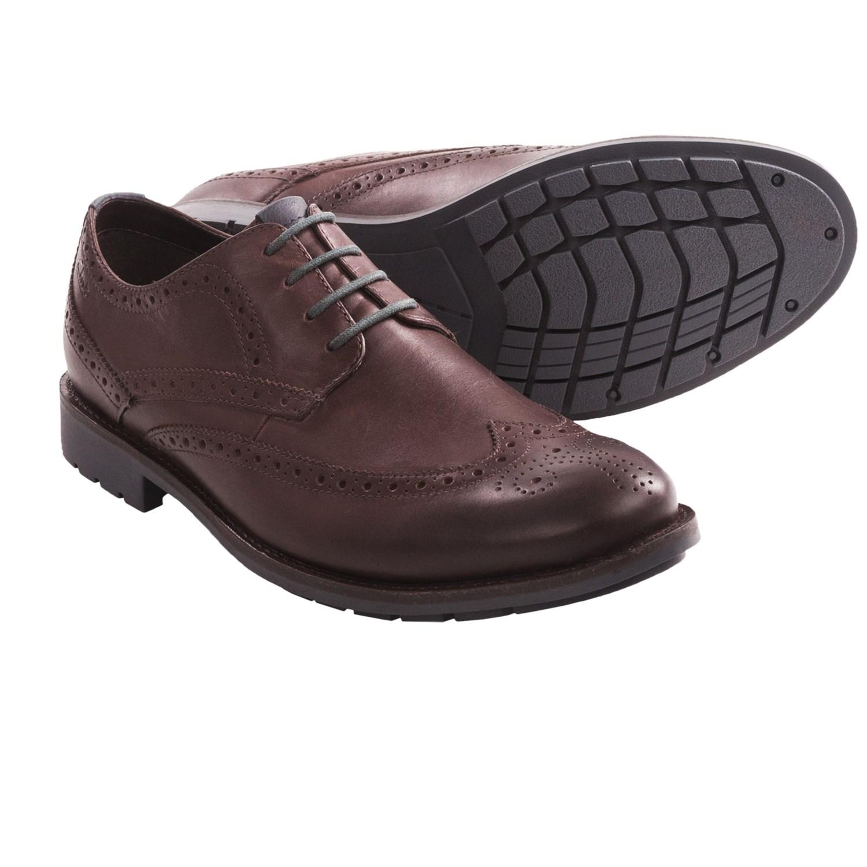 Clarks Garnet Limit Oxford Shoes - Leather (For Men) in Chestnut