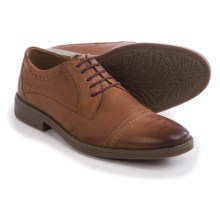 Clarks Garren Oxford Shoes - Leather, Cap Toe (For Men) in Tan Leather - Closeouts