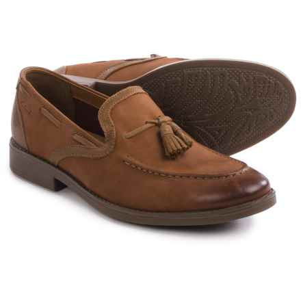 Clarks Garren Style Shoes - Leather, Slip-Ons (For Men) in Tan Leather - Closeouts